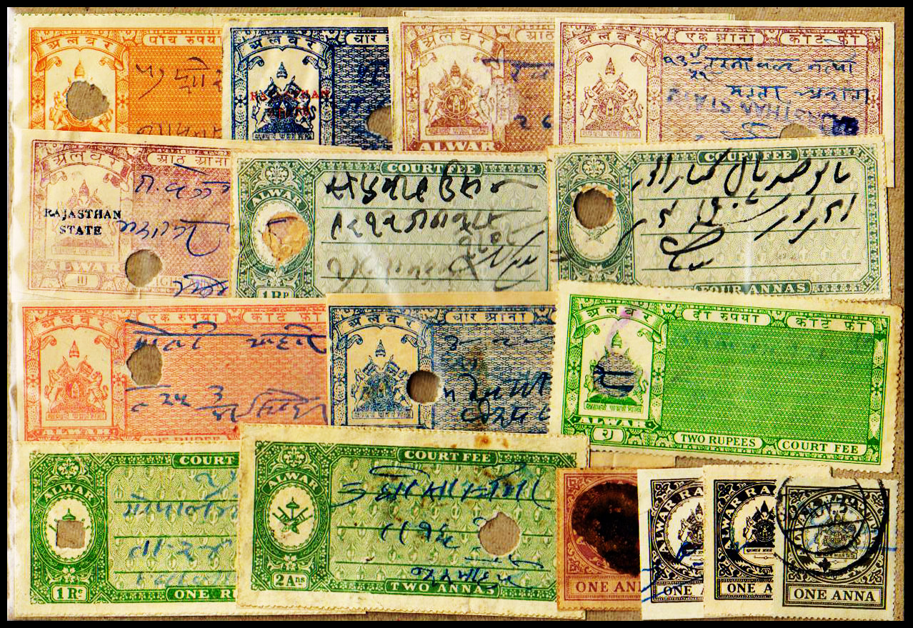 INDIAN STATES FISCAL, REVENUE, COURT FEE STAMPS