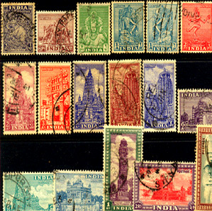 India Definitive Used Stamps , Post Independence